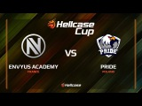EnVyUs Academy vs PRIDE, cobblestone, Hellcase Cup 6