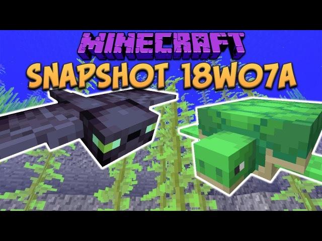Minecraft 1.13 Snapshot 18w07a Update Aquatic Arrives, Phantom Mob, Turtle Mob, Trident More