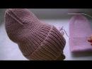 Вязаная шапка тыковка с интересной макушкой.