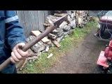 Самодельная лопата-отвал для очистки снега из газового баллона для мотоблока