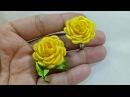 107) DIY - Tutorial Tiny Rose for ring/earring/brooch || Cara Membuat Bros atau Cincin Mawar mungil