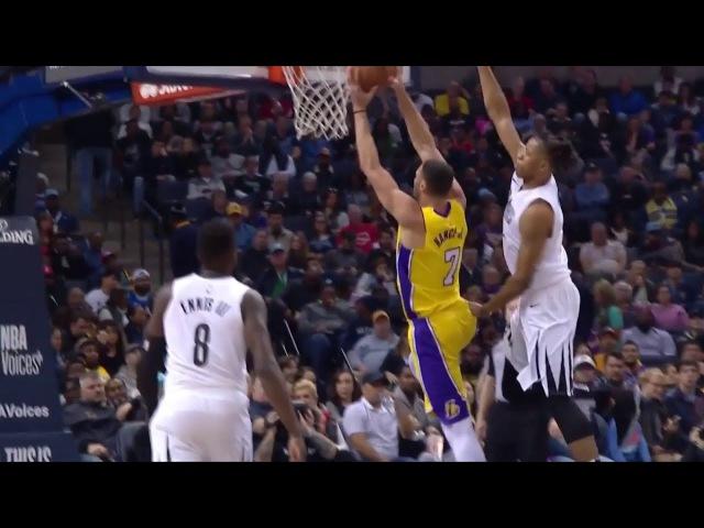 Deyonta Davis Chases Down Larry Nance Jr   Lakers vs Grizzlies   Jan 15, 2018   2017-18 NBA Season