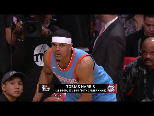 Tobias Harris - Three Point Contest - Round 1 | February 17, 2018 | 2018 NBA All-Star Saturday Night