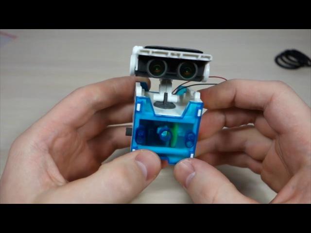 Инструкция. Робот конструктор на солнечной батарее 14 в 1