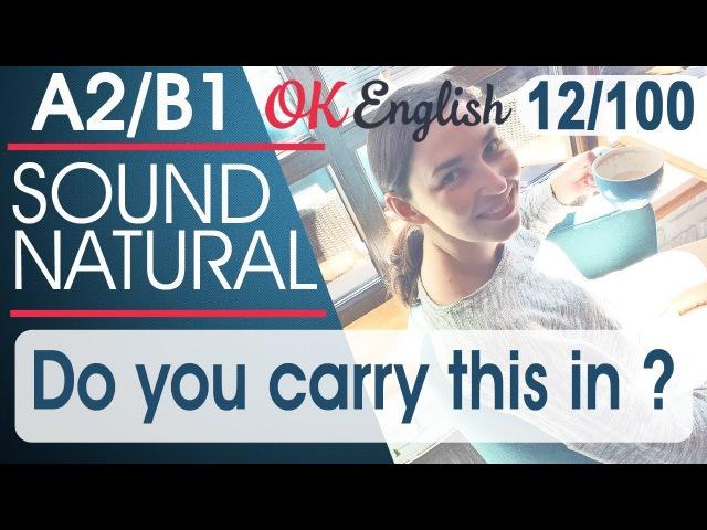 12100 Do you carry this in ... 🇺🇸 Курс разговорного английского языка 100 English phrases