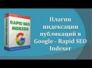 Rapid SEO Indexer плагин ускорения индексации публикаций в Google Search Consol