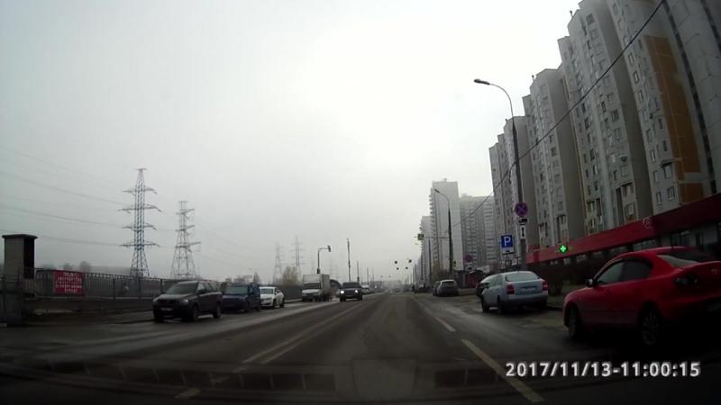 Развороты на улице Старобитцевская. Экзаменационный маршрут Северное Бутово. Часть №1.