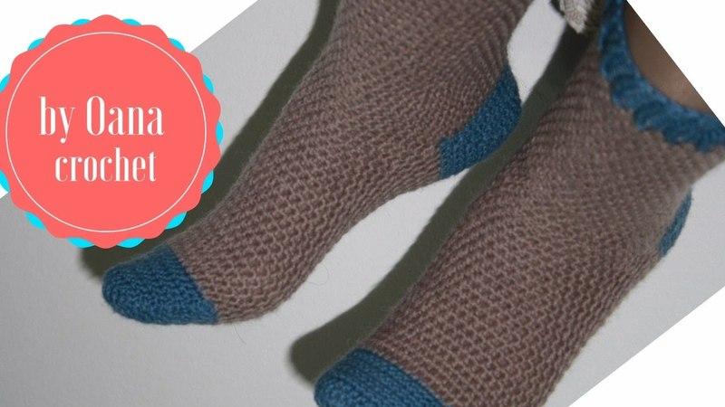 Crochet toe up socks without seam by Oana