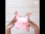 НВ18-75рзв Зайчик с бантиком и завязками, розовый