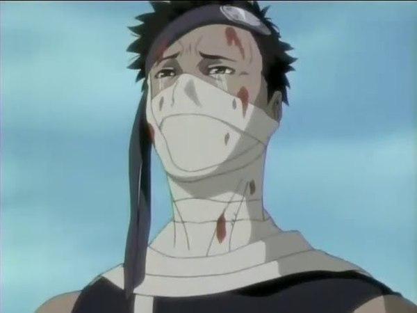 Naruto hacer llorar a zabuza y este venga la muerte de haku