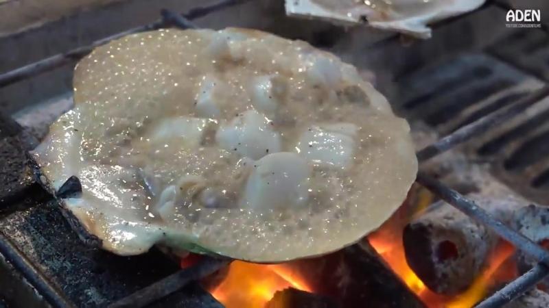 Гребешки запеченные на гриле! японская кухня