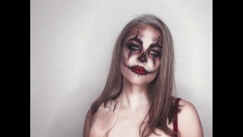 Грим на Хеллоуин : «любовница Джокера»♥️