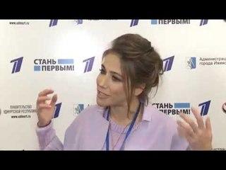 01 06 2018 Юлия Барановская на акции Первого канала в Ижевске
