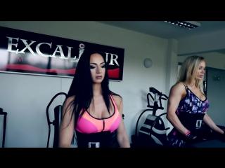Saskia Cakoci (Словакия) и Veronika Guľášová (Словакия) - красивые фитнес-бикини модели. Тренировка в фитнес зале. Рекомендую!2