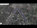 Пример анимации 3d гугл карты Нижний Новгород