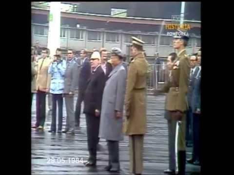 PRL 1984 Kim Ir Sen w Polsce. Pożegnanie drogiego gościa