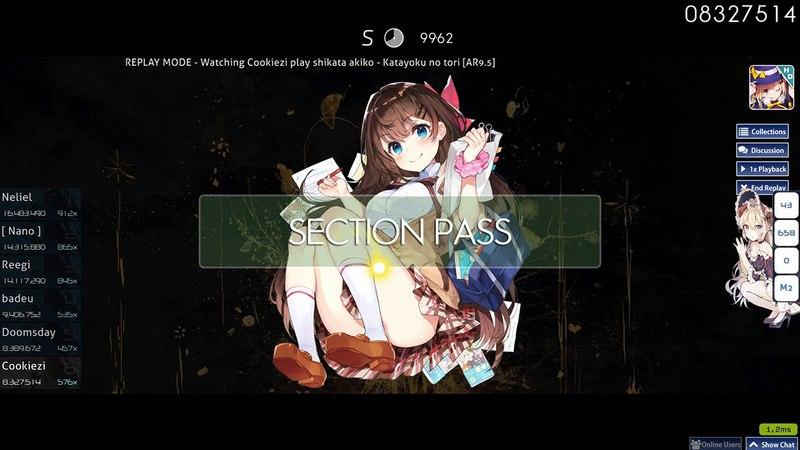 Cookiezi   shikata akiko - Katayoku no tori [AR9.5] HD 99.50% 2xMiss 888x/1478x 1