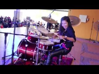 Bon Jovi - Its My Life LIVE Drum Cover by Nur Amira Syahira (SOUQ)[Rip by Asat]