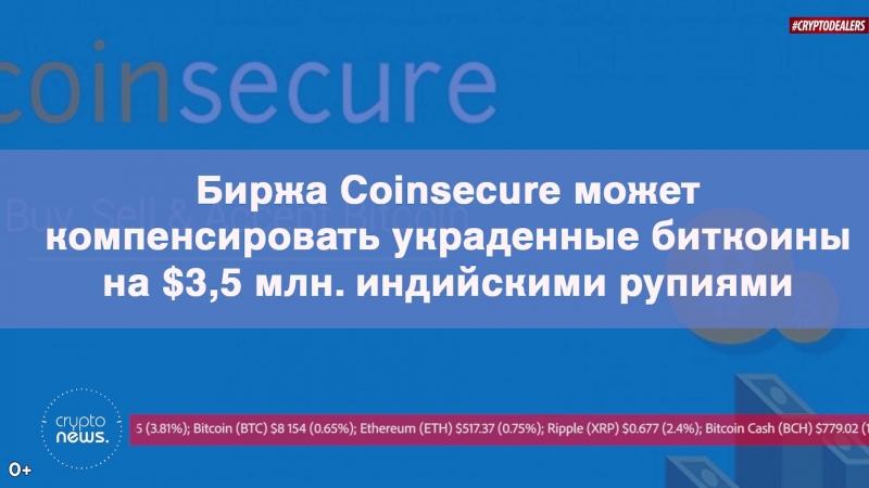 Биржа Coinsecure может компенсировать украденные биткоины на $3 5 млн индийскими рупиями
