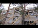 Утепление дома пенопластом нанесение Visage Ceresit имитирующей фактуру настоящего дерева