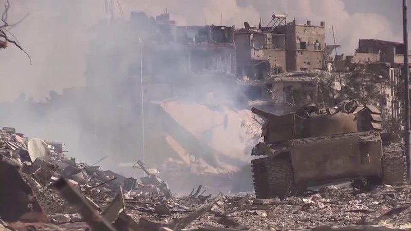Видеозапись уничтожения последних боевиков в лагере Аль Ярмук Кадры из Республиканской гвардии Сирийской армии в Аль Хаджар аль Асва