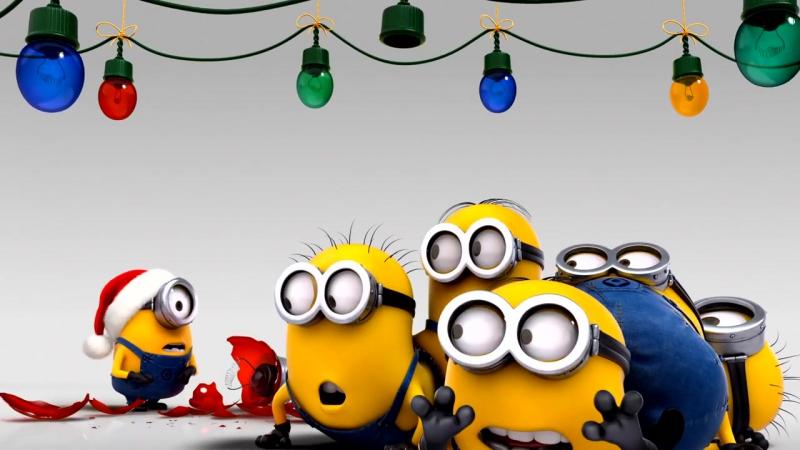 Гадкий я 2 (миньоны) С новым годом и рождеством! HD