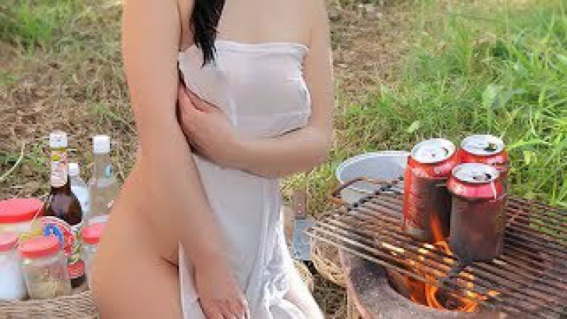 Awesome Food | Beautiful Girl Grilled Shrimp w/ 3 Coca Cola Recipe | Village Food Factory