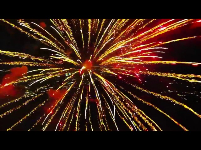 Dji Inside the Explosion . Fireworks filmed with a drone ! the Best Fireworks in the World