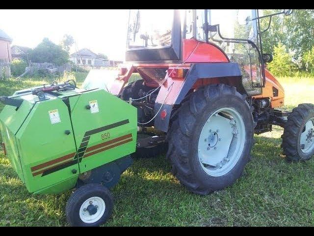 Рулонный пресс STAR для мини-тракторов желтый