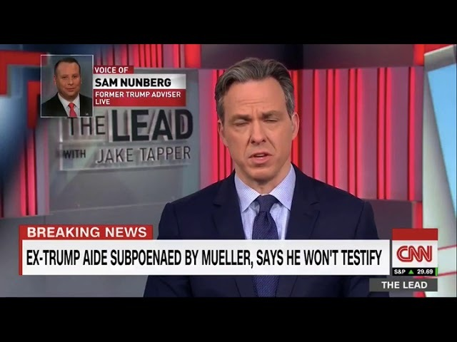 Sam Nunberg Thinks Carter Page Colluded With Russians Thanks to Jake Tapper's Reporting