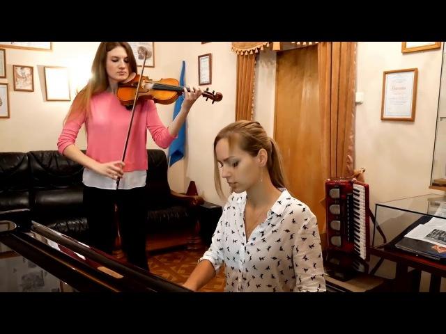 Сектор Газа - Туман   кавер на скрипке и пианиноRMS Insight (бас, баян, звук)