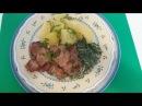 Мягкое нежное мясо в соевом соусе и Соус с крапивой