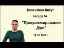 Программирование Душ - Беседа 14 с Валентиной Когут