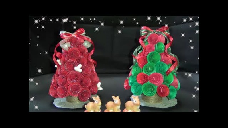 【DIY】ペーパーローズでかわいいツリーの作り方 How to make a cute tree with paper rose