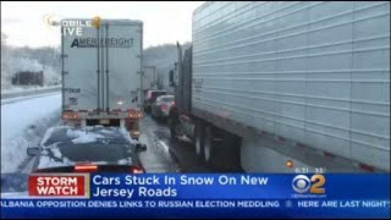 Snow Snarls Traffic In New Jersey