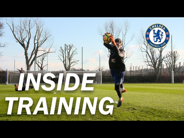 Flying Saves With Courtois Training With All The Chelsea Goalkeepers | Inside Training