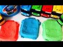 Тайо Автобусы Гараж Песок Игрушки Видео для Детей Мультики про Машинки