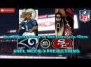 Los Angeles Rams vs San Francisco 49ers | #NFL WEEK 3 | Predictions Madden 18