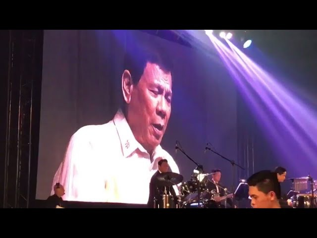 Duterte sings 'Ikaw' to ASEAN guests upon request of Donald Trump