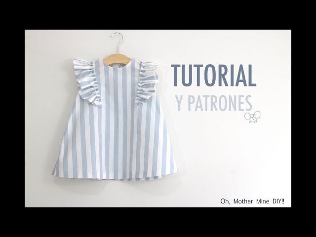 Costura: Vestido con volantes para niñas (patrones gratis talla hasta 8 años)