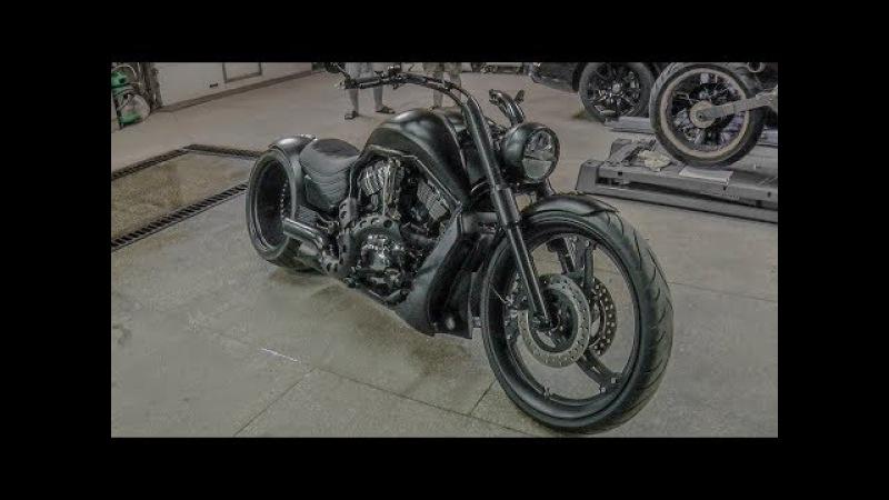 ТЫ НЕ СМОЖЕШЬ НЕ ОБЕРНУТЬСЯ!! Тест драйв Кастом проекта Harley Davidson V-rod Докатились!