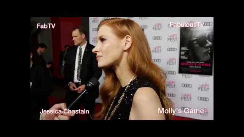 Jessica Chastain at AFI talks about 'Molly's Game' on FabulousTV