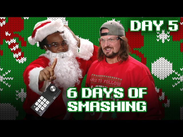 DAY FIVE: AJ STYLES crushes the COLECOVISION REMOTE! - 6 Days of Smashing