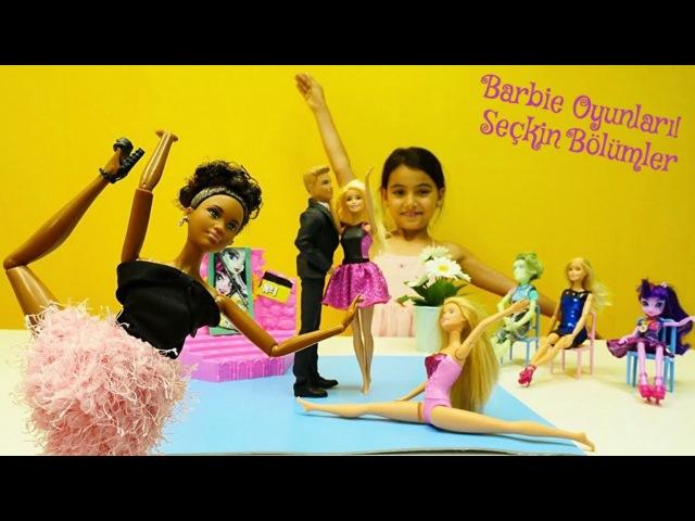 Kukla oyunları! Barbie at çiftliğinde,dans yarışmasında ve diğer MACERA izle! oyuncakbebek videosu