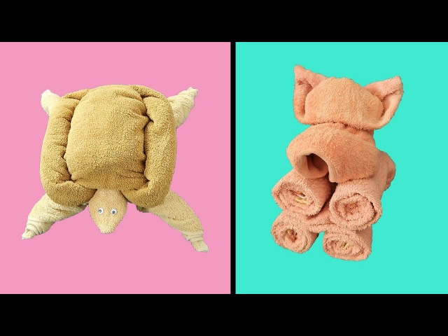 How To Make Towel Animals. CUTE AND EASY TOWEL FOLDING IDEAS