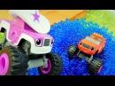 Blaze suya düştü Monster Mashines oyuncak arabalar
