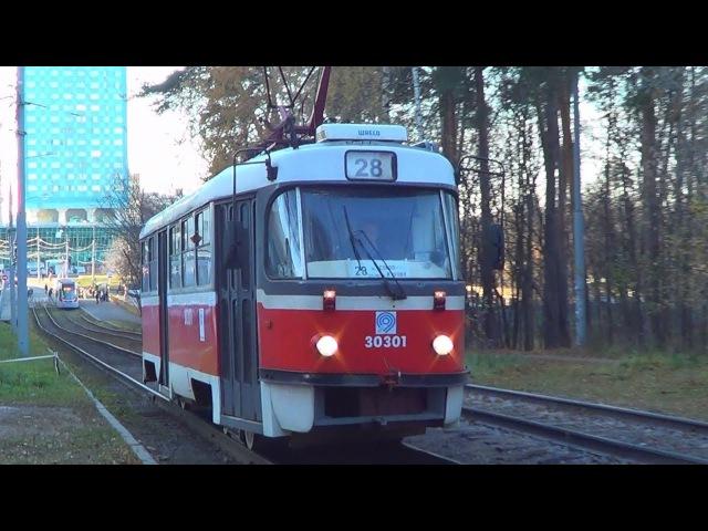 Трамвай МТТА-2 или Tatra-t3 №28 с приветливым водителем:-)