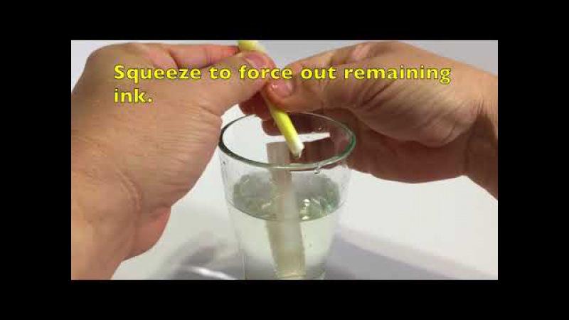 Eksperiment Percobaan Membuat Pulpen Tinta Tak Terlihat