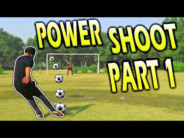 How to shoot / kick Soccer ball with power-Football freekick proper technique tutorial (HINDI)