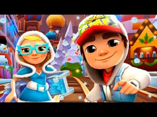 Сабвей Сёр в САНКТ ПЕТЕРБУРГЕ #2 мультик игра для детей УБЕГАЕМ от ДЕДА МОРОЗА в д...